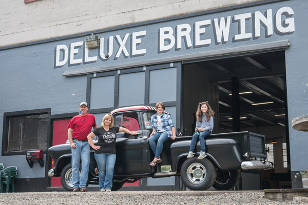 The Howard Family, owners of Deluxe Brewing and Sinister Distilling
